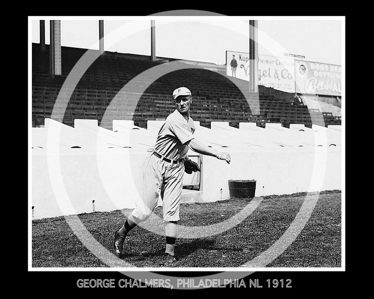 George Chalmers, Philadelphia Phillies NL, at the Polo Grounds NY,  1912.