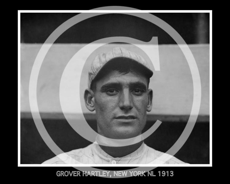 Grover Hartley, New York Giants NL, 1913.