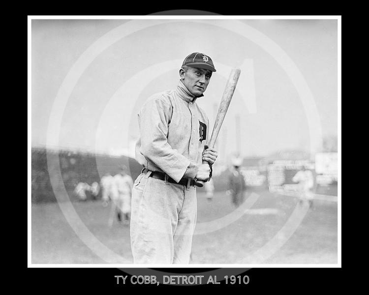 Ty Cobb, Detroit  Tigers AL, 1910.