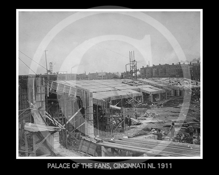 Redland Field, Cincinnati, Ohio. Construction of the new grandstand 1911.