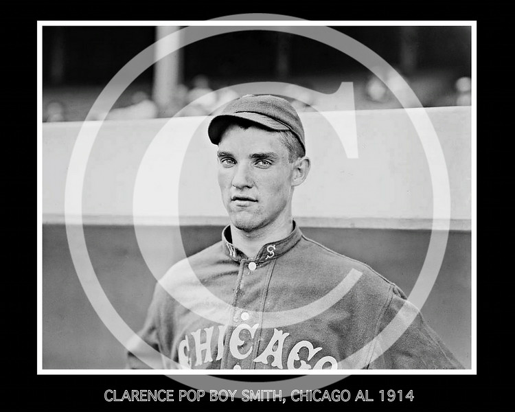 Clarence Pop-Boy Smith, Chicago White Sox AL, 1914.
