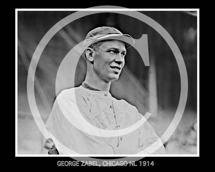 George Zip Zabel, Chicago Cubs NL, 1914.