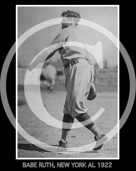 Babe Ruth, New York Yankees AL, 23 March 1922.