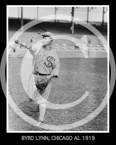 Byrd Lynn, Chicago White Sox AL, 1919.