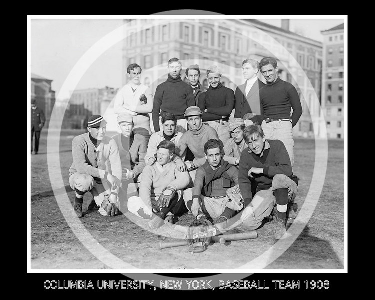 Columbia University, New York, Freshman baseball team, 1908.