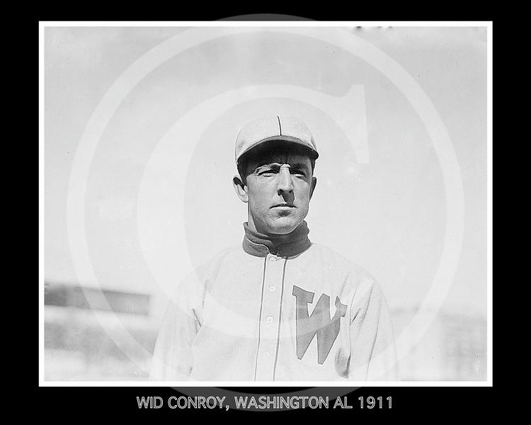 Wid Conroy, Washington Senators AL, 1911.