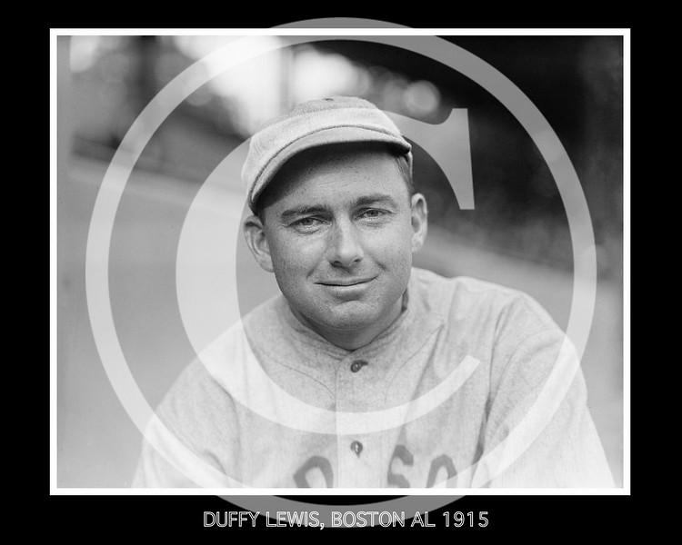 Duffy Lewis, Boston Red Sox AL, 1915.