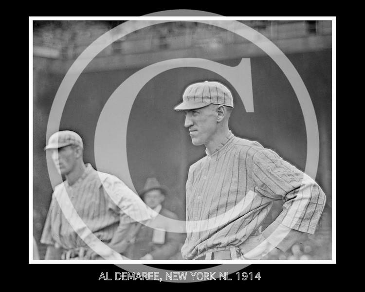Al Demaree, New York Giants NL, 1914.
