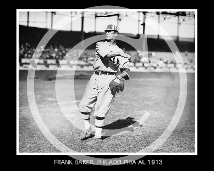 Frank Home Run Baker, Philadelphia Athletics AL, 1913.