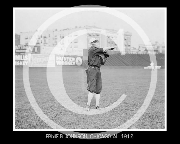 Ernie R. Johnson, Chicago White Sox AL, 1912.
