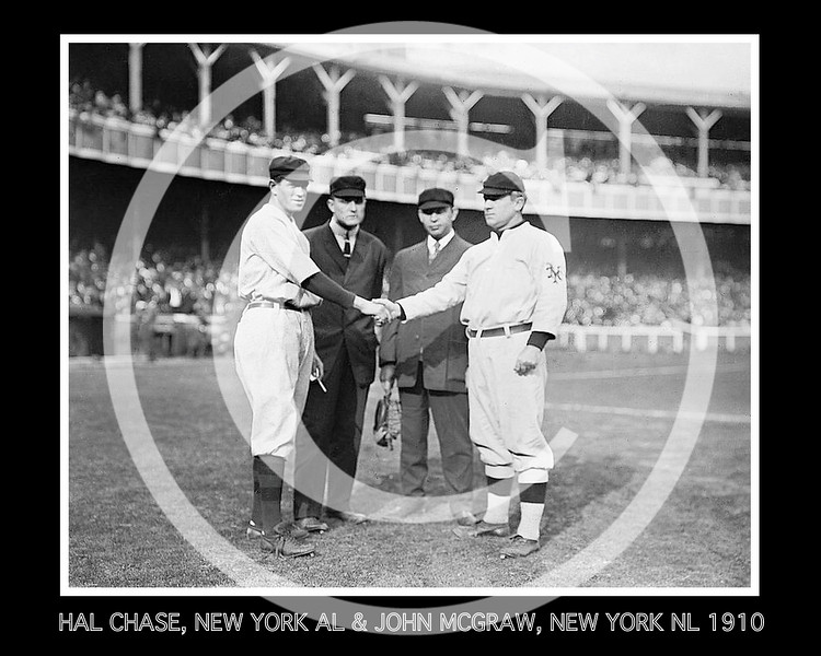 John McGraw - Hal Chase, New York Yankees AL and John McGraw, New York Giants NL, 1910.