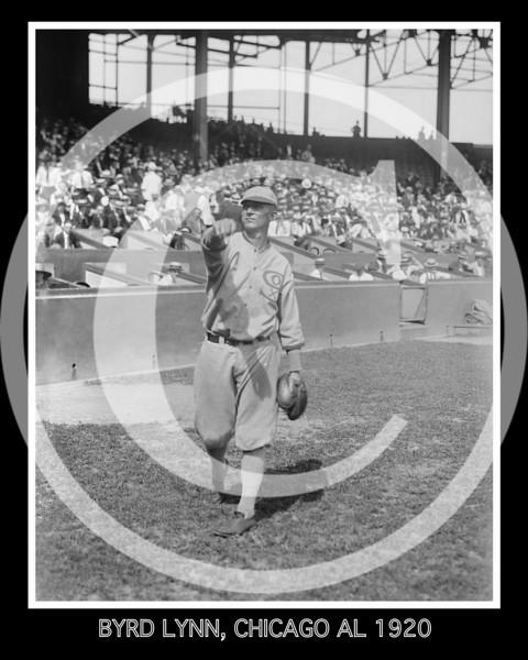 Byrd Lynn, Chicago White Sox AL, 1920.