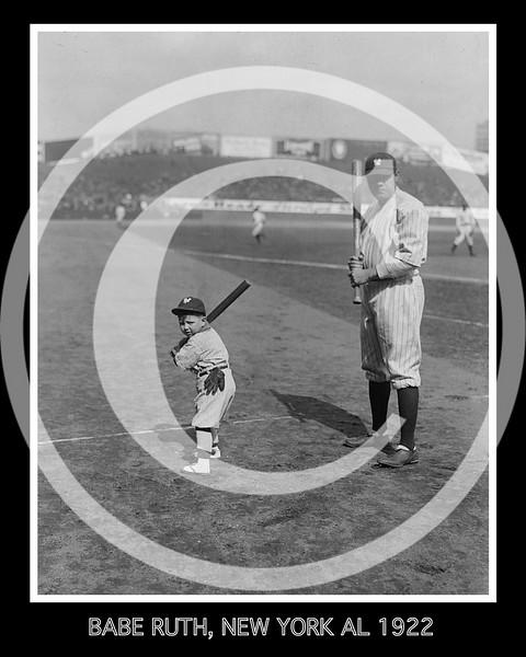 Babe Ruth & mascot, New York Yankees AL, 1922.