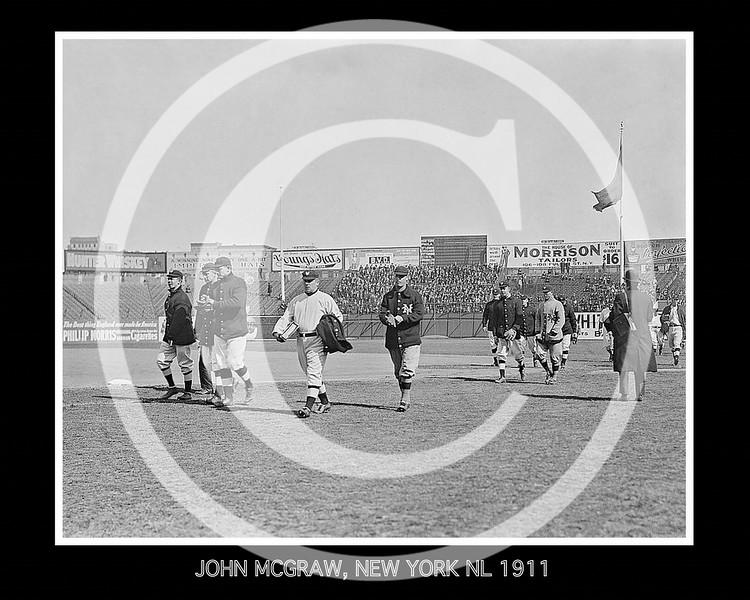New York Giants NL walking  onto the field. John McGraw leads the team, 1911.