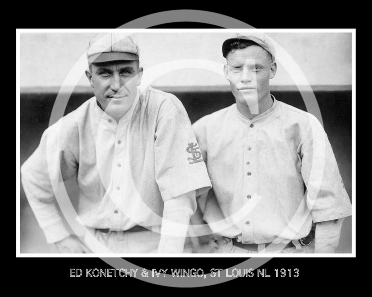 Ivy Wingo - Ed Konetchy and Ivy Wingo, St. Louis Cardinals NL, 1913.