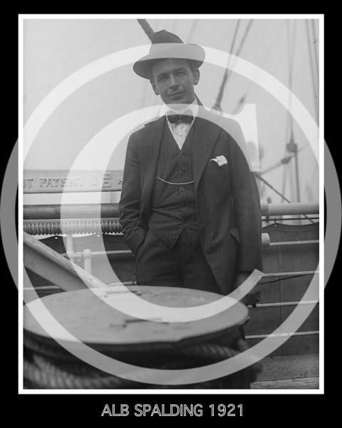 Albert Spalding 1921.