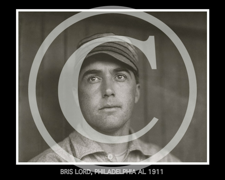 Briscoe Lord, outfielder for the Philadelphia Athletics AL, 1911.