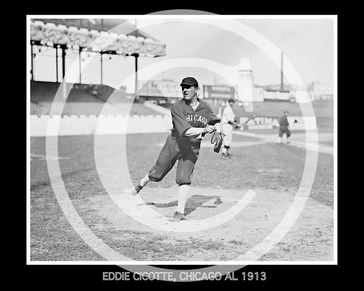 Eddie Cicotte, Chicago White Sox AL, at the Polo Grounds NY,  1913.