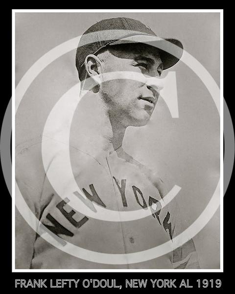 Frank Lefty O'Doul, New York Yankees AL, 1919.