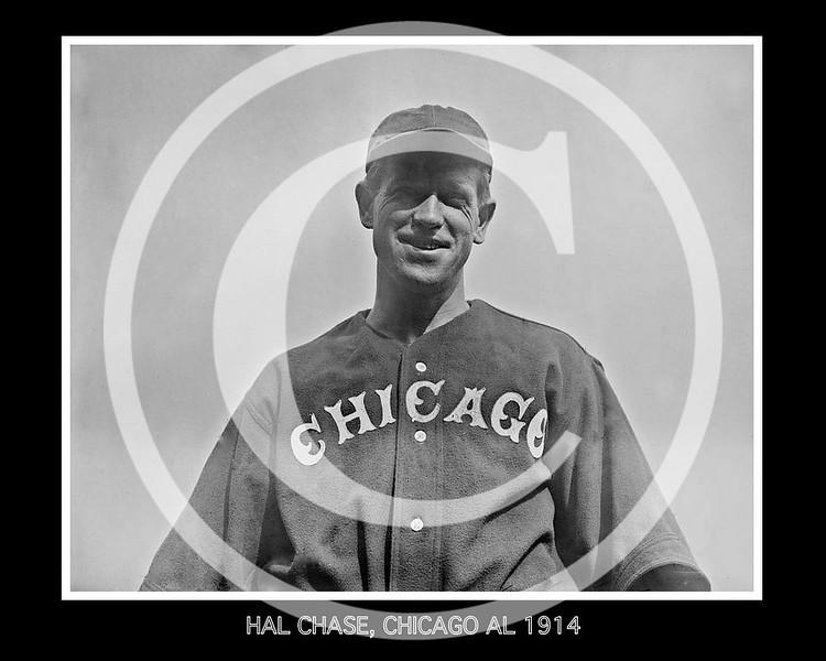 Hal Chase,  Chicago White Sox AL, 1914.