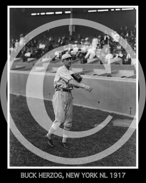 Charles Buck Herzog, New York Giants NL, 1917.
