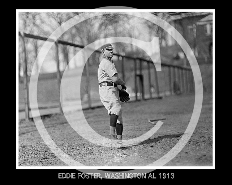 Eddie Foster, Washington Senators AL, 1913.