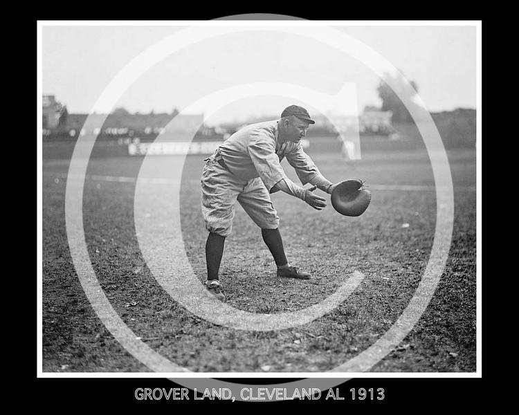 Grover Land, Cleveland Naps AL, at National Park, Washington D.C.1913.
