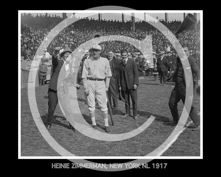 Heinie Zimmerman, New York Giants NL, 1917.