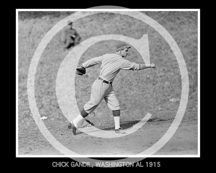 Chick Gandil, Washington AL, at University of Virginia, Charlottesville 1915