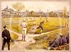 Baseball  aquarelle print 1887.