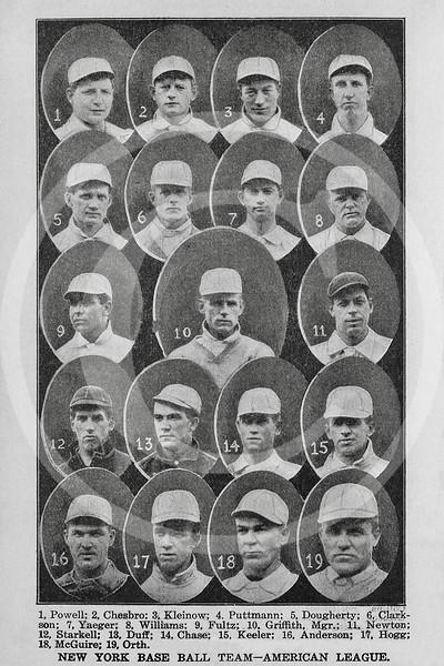New York Highlanders AL 1905.