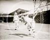 Alvin Gipe (left) & Topsy Hartsel (right), Philadelphia Athletics AL, 1911.