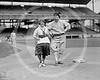 Female baseball player Dot Meloy & Nick Altrock, Washington Senators AL, 10 June  1920.