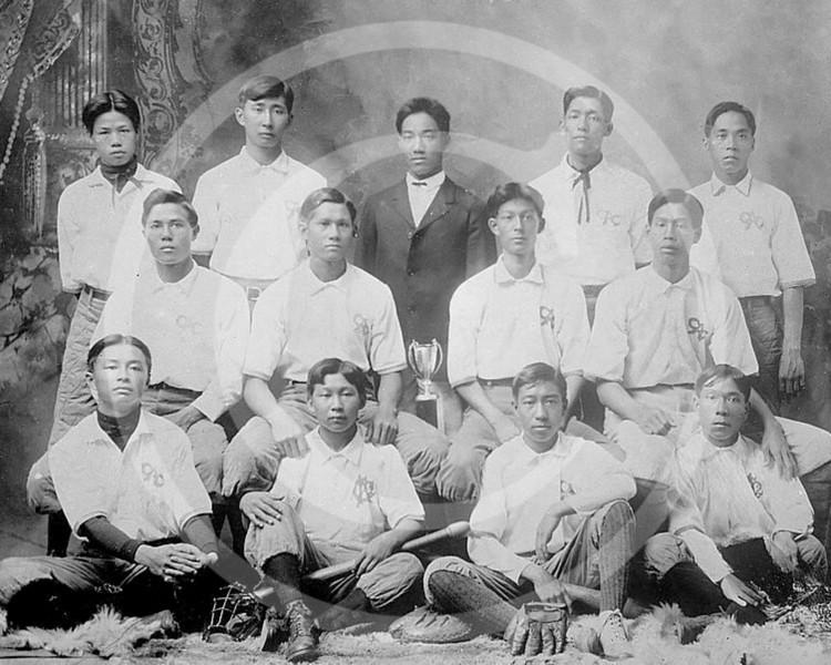 Chinese baseball team, Honolulu 1910.