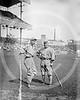 """Eddie Collins & William Jethro """"Kid"""" Gleason, manager, Chicago White Sox AL, 1921."""