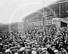 Fans outside the Washington Senators AL team's dressing rooms waiting for the players to come out, 10 October 1924.