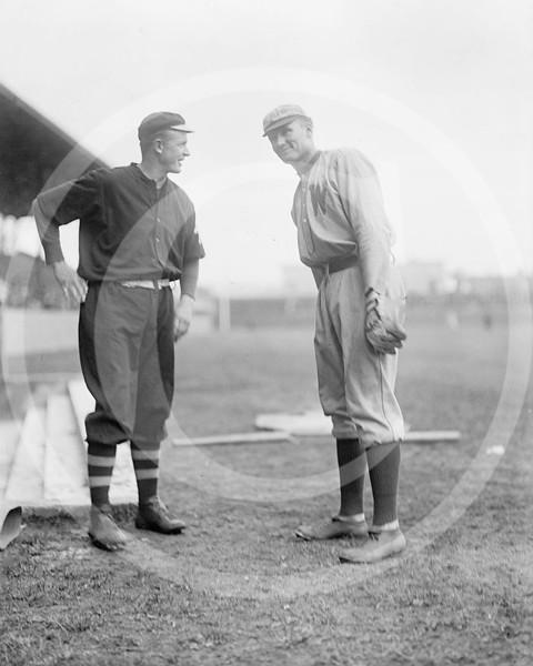 Christy Mathewson, New York Giants NL and Walter Johnson, Washington Senators AL,  1912.