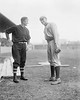 Christy Mathewson, New York Giants NL and Walter Johnson, Washington Senators AL,  1912.