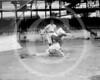 Female baseball player, Ardis Yelton is shown the proper way to slide into a base by Clyde Milan, Washington Senators AL, 10 June 1920.