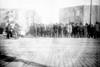 Baseball fans & ice cream vendors outside Brooklyn Park, opening day, New York 1908.
