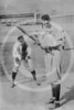Arther Solly Hofman batting, and Jack Pfiester, a pitcher playing catcher, Chicago Cubs NL 1907.