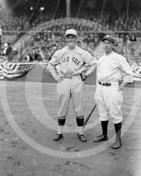 Everett Scott - George H. Burns, Boston Red Sox AL and  Everett Scott, New York Yankees AL, 1922.