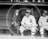 Connie Mack, manager  and  Ira Thomas, Philadelphia Athletics AL, 1914.