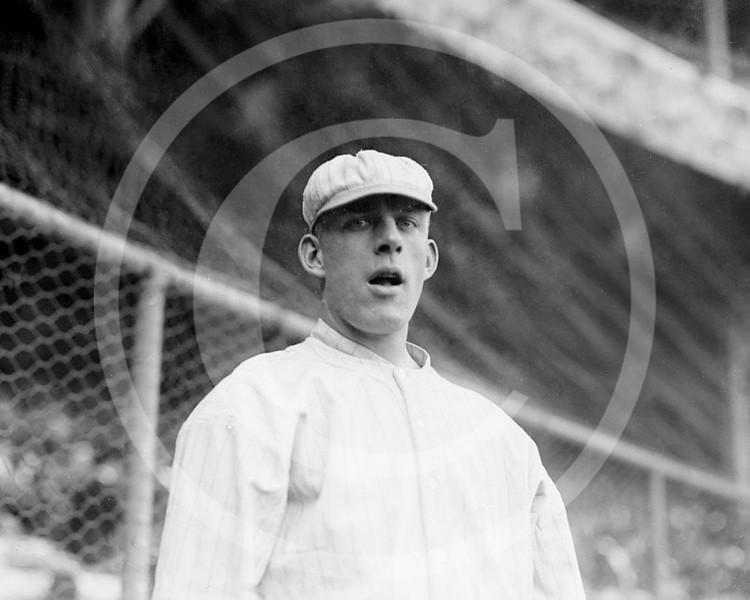 Art Wilson, New York Giants NL, at the Polo Grounds NY, 1913.