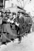 Baseball fans, including women, waiting in line for ball ground to open 5 October 1920.