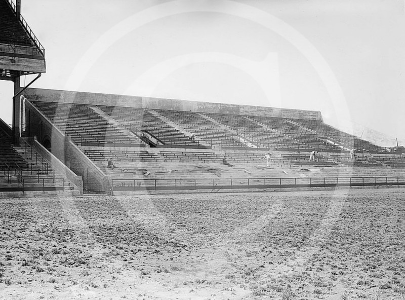 Ebbets Field. Bleachers under construction, Brooklyn Dodgers NL, 1913.