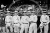 "Amos Aaron Strunk - William John ""Billy"" Orr, Herbert Jefferis ""Herb"" Pennock, John Weldon Wyckoff, Leslie Ambrose ""Bullet Joe"" Bush, James Robert ""Bob"" Shawkey, Amos Aaron Strunk, Philadelphia AL 1914."