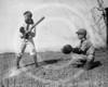 Boys playing baseball, 21 March 1923.