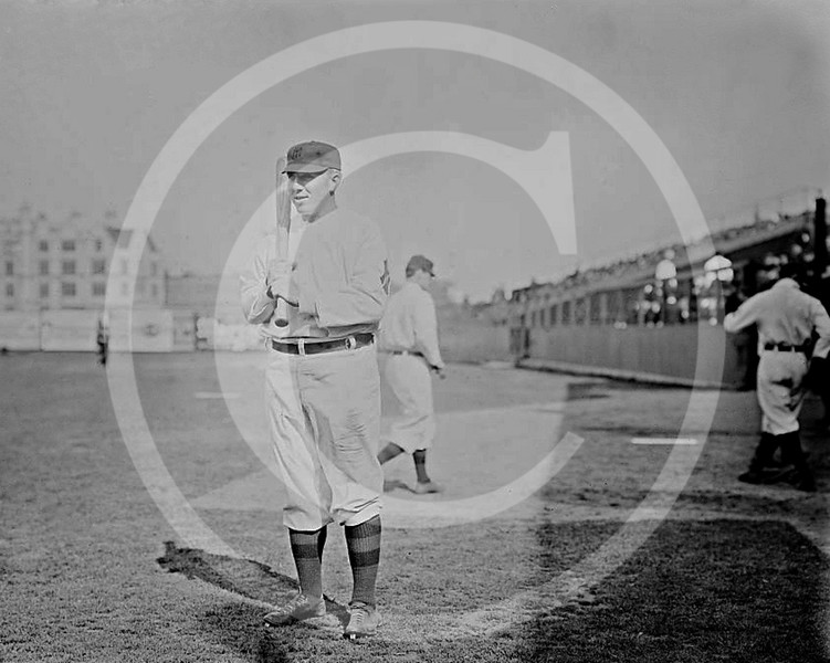 Clyde Engle, New York Highlanders AL, 1909.