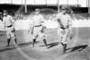 "Elmer Knetzer - Don Carlos Patrick Ragan, George Napoleon ""Nap"" Rucker, Elmer Knetzer, Brooklyn Trolley Dodgers NL, 1912."